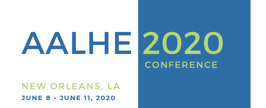 AALHE 2020 logo